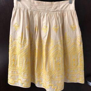 Anthropologie Embroidered skirt.